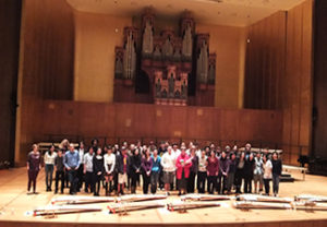 Bonnie Wade with koto class fall 2015