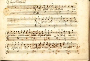 photo of music score